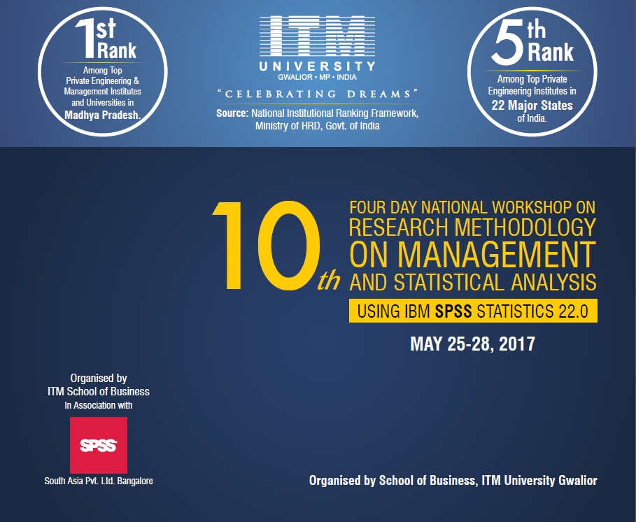 10th 4 Day National Workshop on Research Methodology on Management